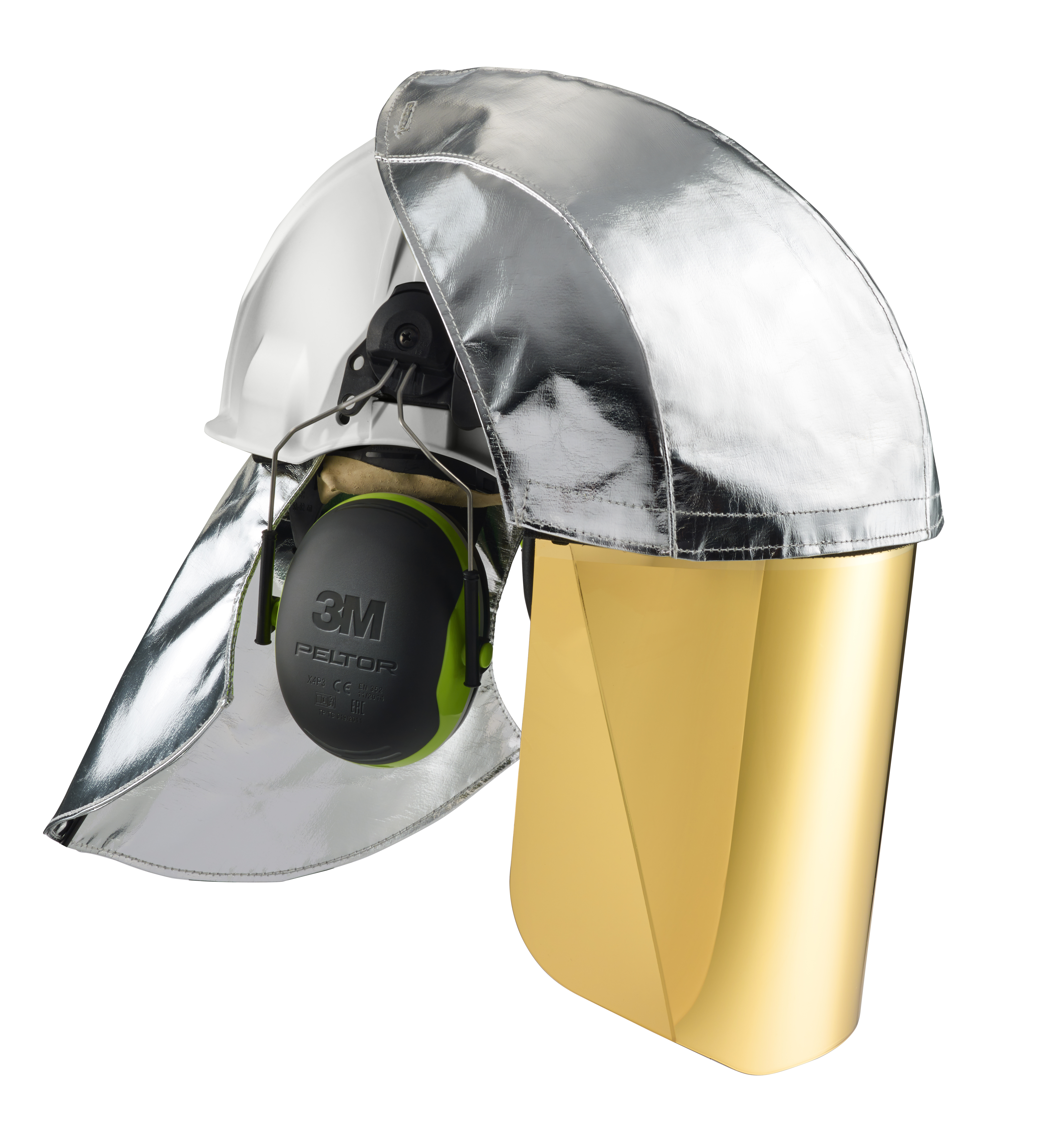 3m_g3501_kombination_weiß_5xg-ir5_visier_gold_toenung5_aluminium_frontschutz_und_nackenschutz_x4_gehoerschutz