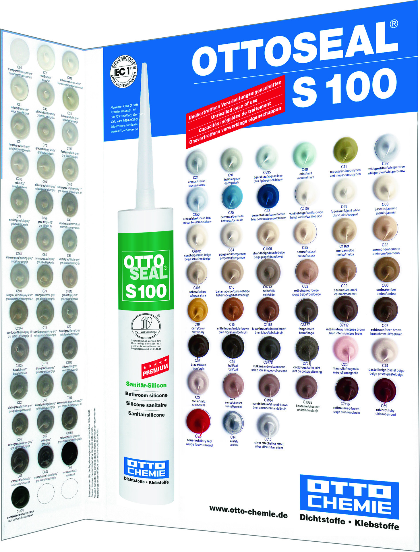 Farbtafel OTTOSEAL S100